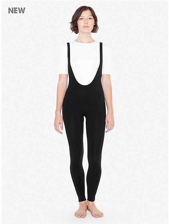 Cotton Spandex Suspender Catsuit
