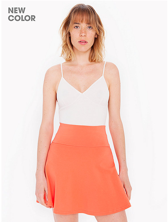 Cotton Spandex Jersey High-Waist Skirt
