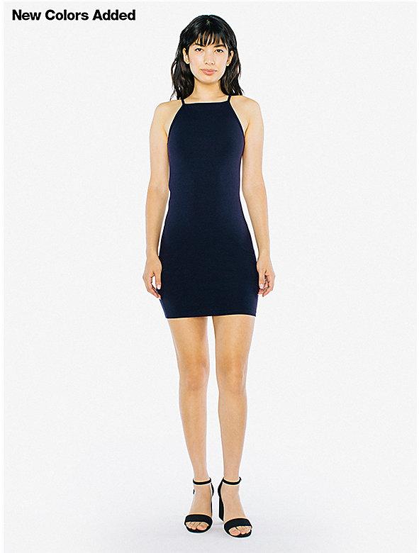Cotton Spandex Square Tank Mini Dress