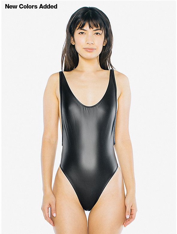 Metallic Deep Cut Sunsuit