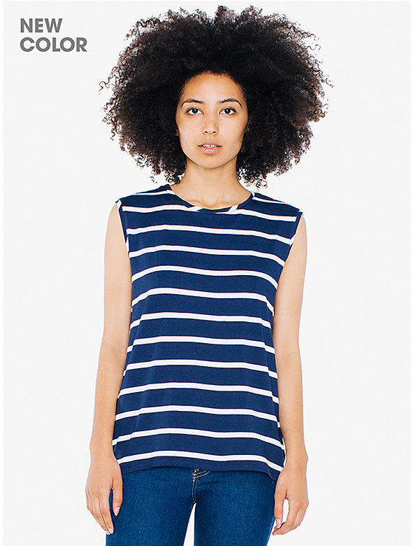 Striped Compact Jersey Muscle Tank