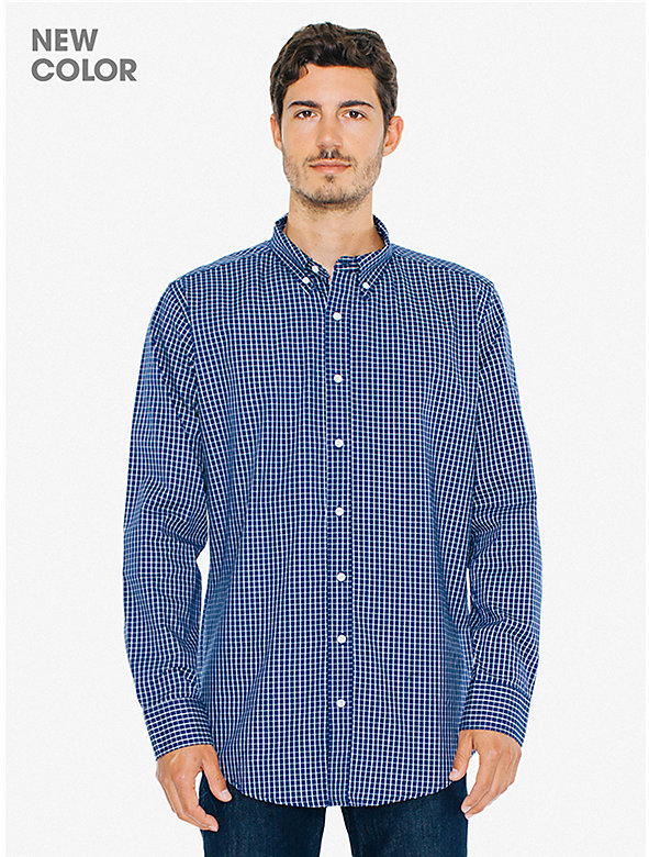 Check Stone Wash Oxford Shirt