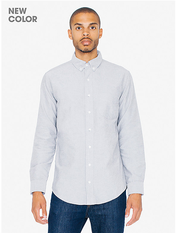 Stone Wash Slim Fit Oxford Shirt
