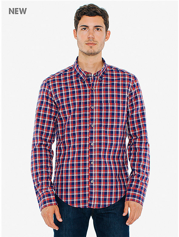 Plaid Brushed Slim Fit Shirt