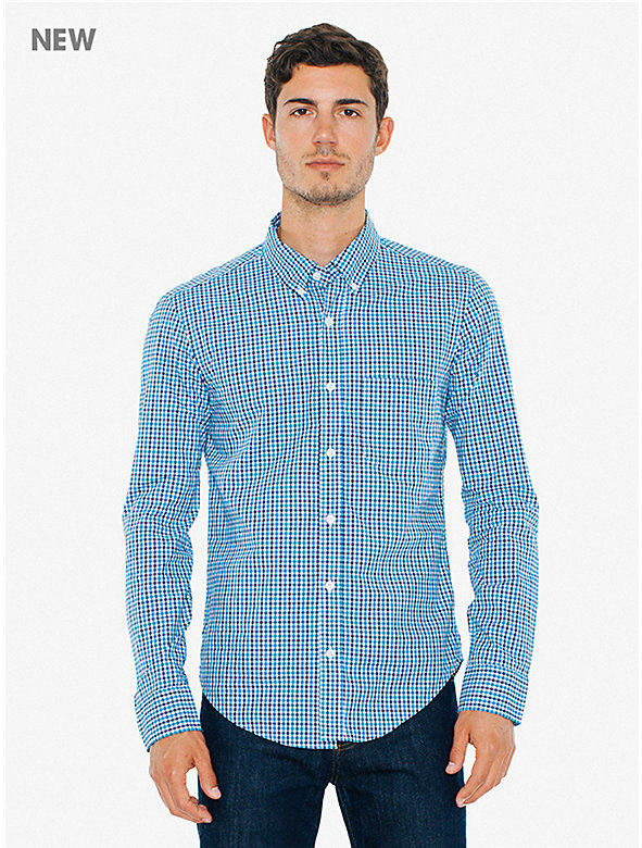 Gingham Lightweight Poplin Slim Fit Shirt