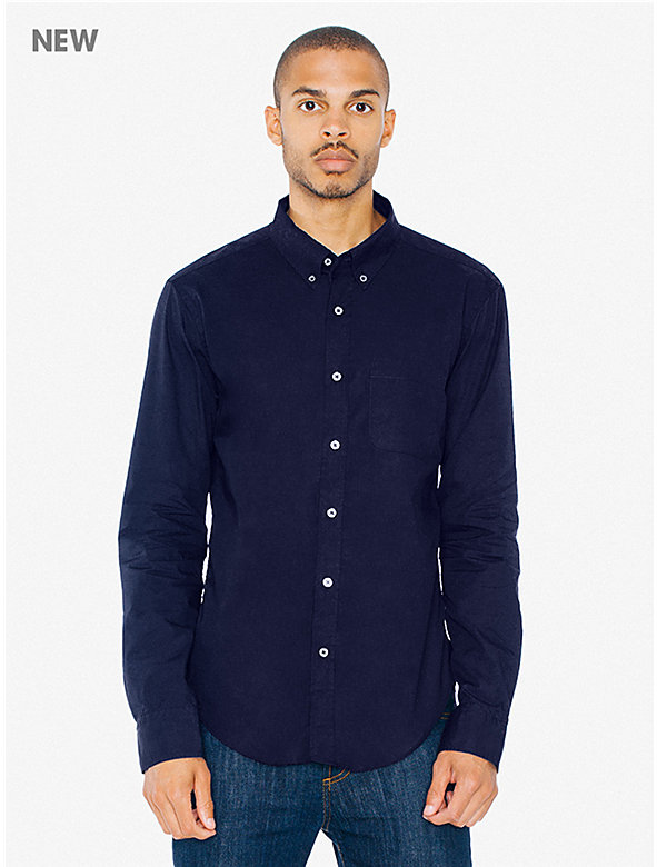 Lightweight Poplin Long Sleeve Slim Fit Shirt