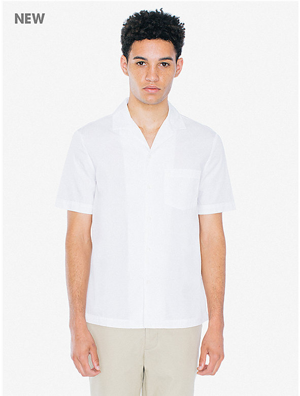 Poplin Camp Collar Shirt