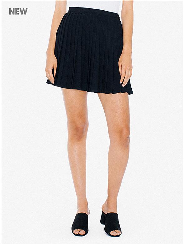 Crepe Sunburst Pleated Skirt