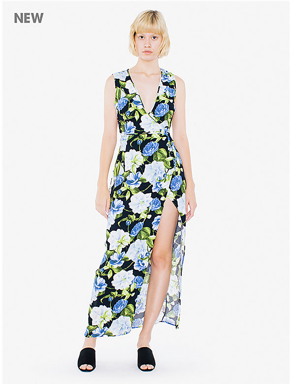Printed Crepe Sleeveless Julliard Dress