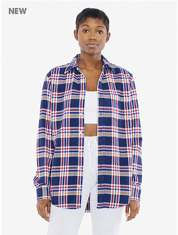 Unisex Plaid Brushed Cotton Shirt