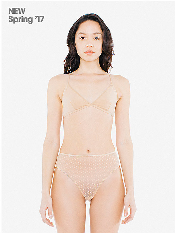 3D Dot High-Waist Thong