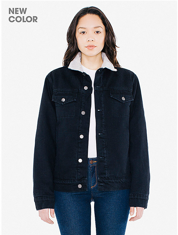 Unisex Denim Sherpa Jacket