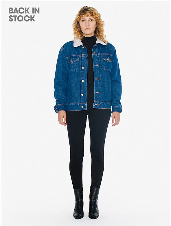 Unisex Denim Sherpa Jacket