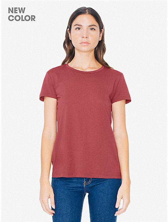 50/1 Cotton Women's Crewneck T-Shirt