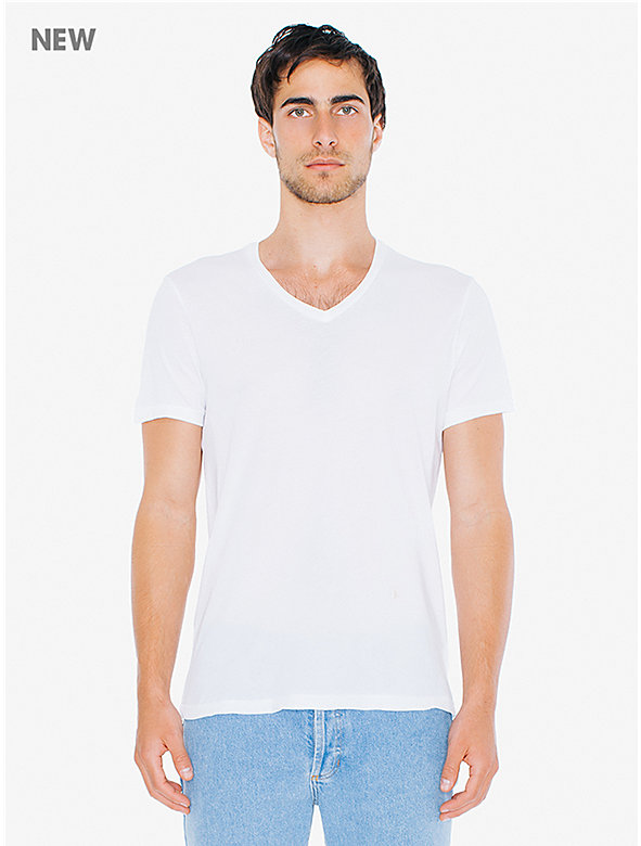 50/1 Cotton V-Neck T-Shirt