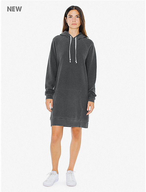 French Terry Hoodie Mini Dress