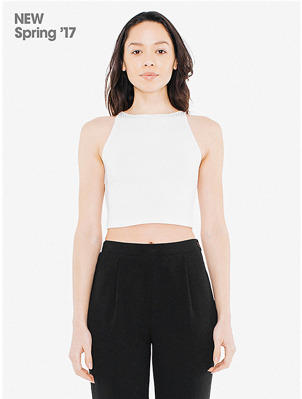 Glace Rib Sleeveless Crop Top