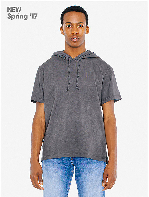Color Wash Hammer Short Sleeve Pullover Hoodie