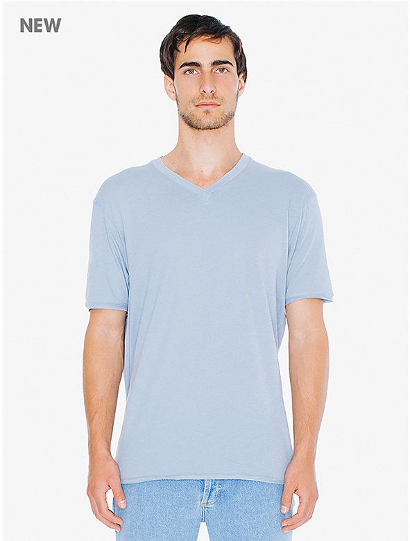 40/1 Cotton Crossover V-Neck T-Shirt