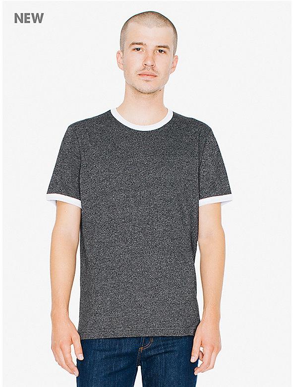 Mock Twist Jersey Crewneck Ringer T-Shirt