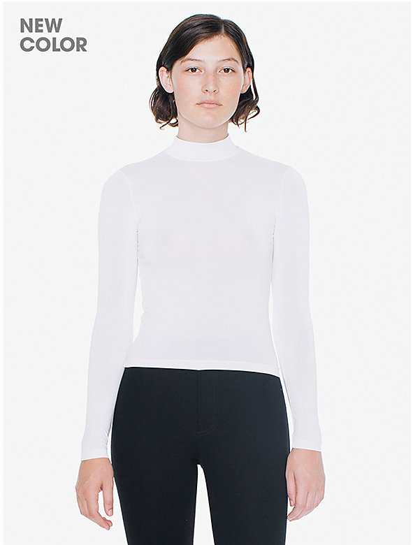 Brushed Jersey Turtleneck Top