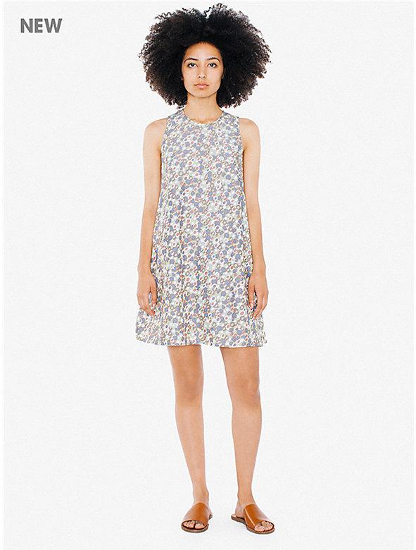 Printed Faux Silk Olivia Dress