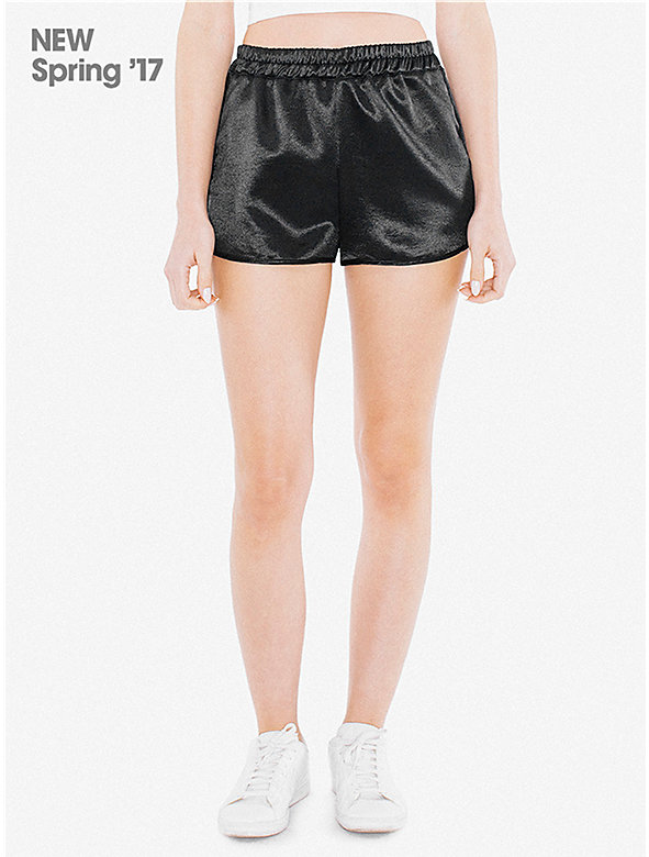 Metallic High-Waist Running Short