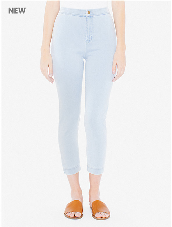 Lightweight Stretch Denim Capri