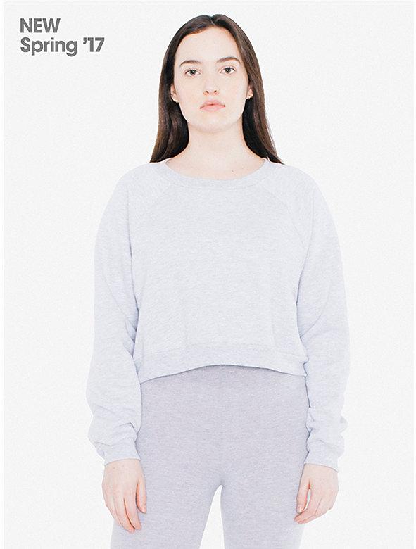 Salt & Pepper Cropped Raglan Sweatshirt