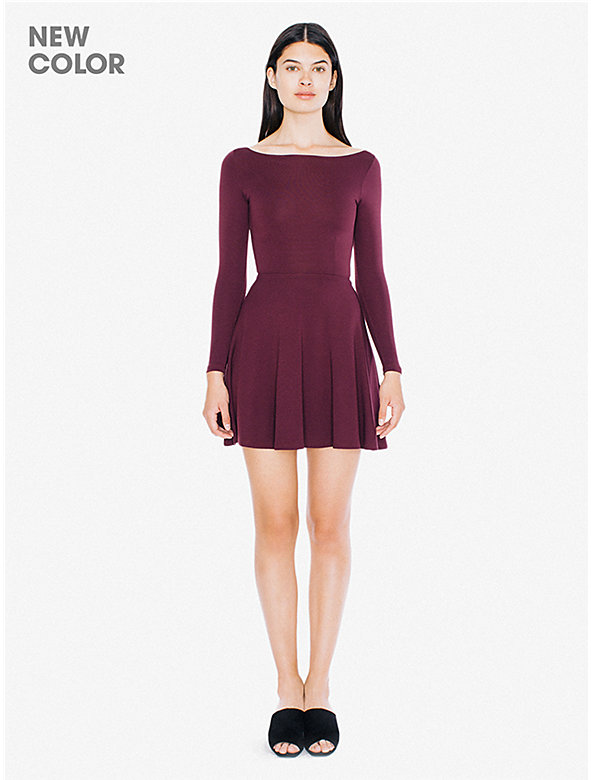 Ponte Long Sleeve Skater Dress