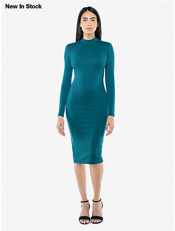 Ponte Long Sleeve Mock Neck Dress