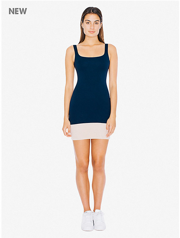Color Block Ponte Tank Dress