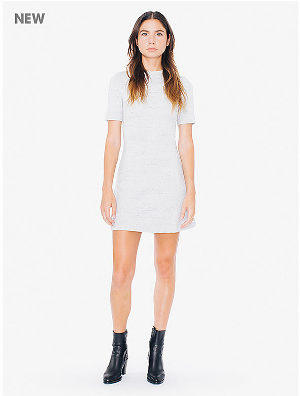 Ponte Crewneck Short Sleeve Mini Dress