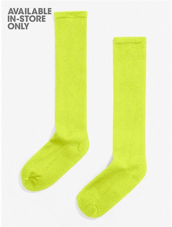Solid Knee-High Sock
