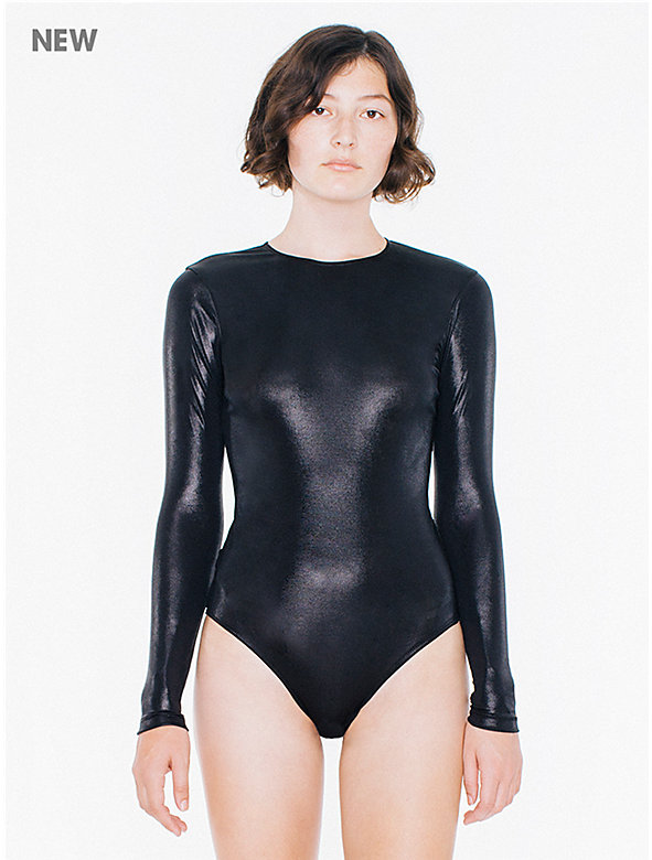 Metallic Jersey Long Sleeve 'Classic' Bodysuit