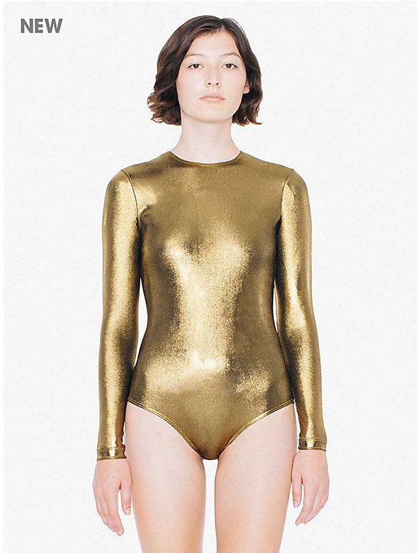 Metallic Jersey Long Sleeve 'Classic' Bodysuit