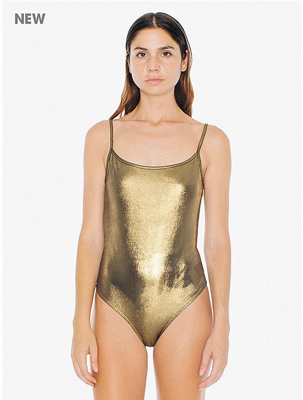 Metallic Jersey U Back Bodysuit