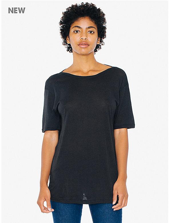 Cotton Modal Open Back T-Shirt