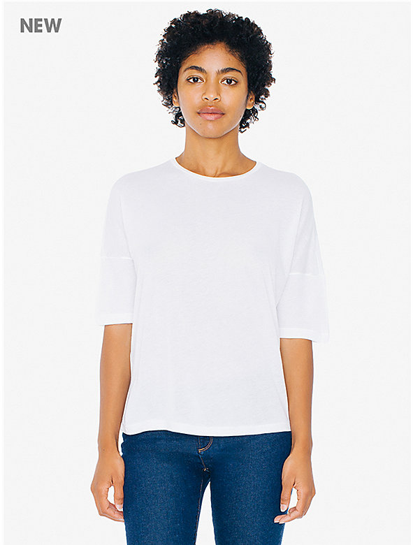 Cotton Modal Easy Drop Shoulder T-Shirt