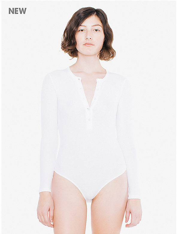 Thermal Henley Long Sleeve Bodysuit