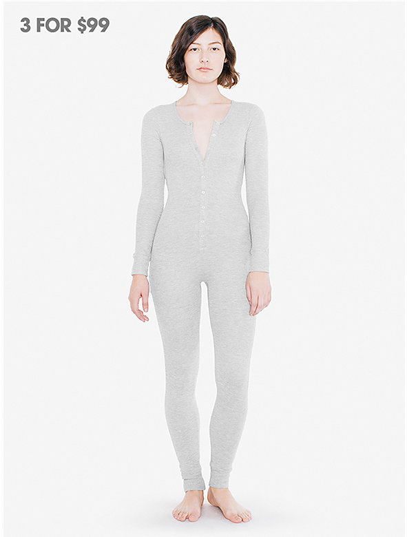 Thermal Henley Long Sleeve Catsuit