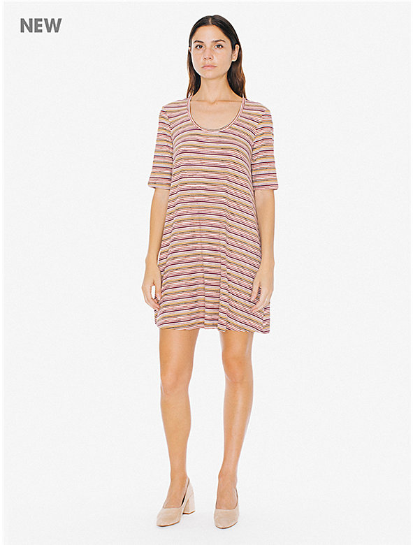 2x1 Rib Stripe T-Shirt Mini Dress