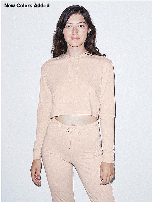 Tri-Blend Pullover Crop Hoodie