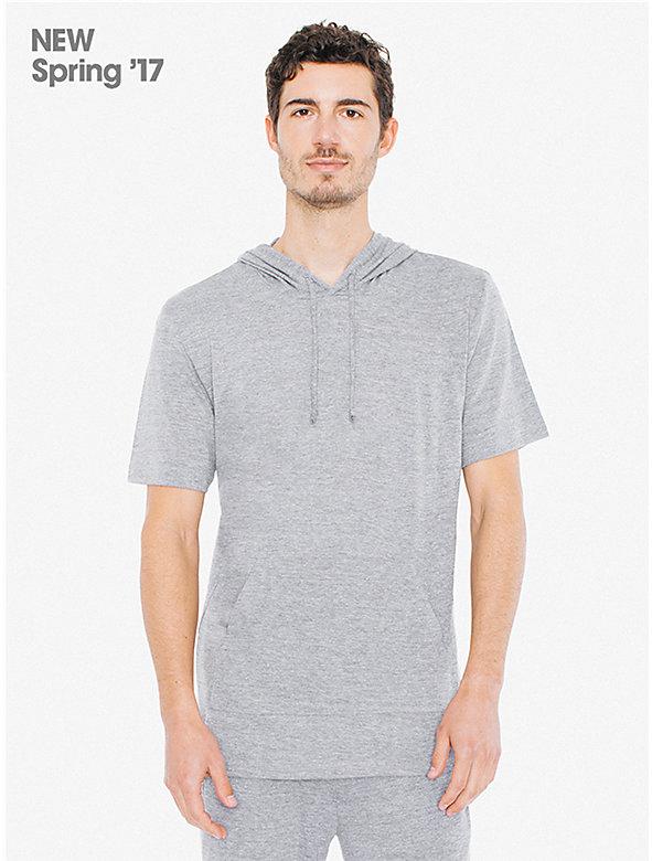 Tri-Blend Short Sleeve Pullover Hoodie