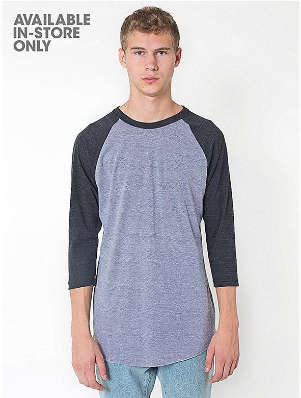 Tri-Blend Raglan 3/4 Sleeve T-Shirt