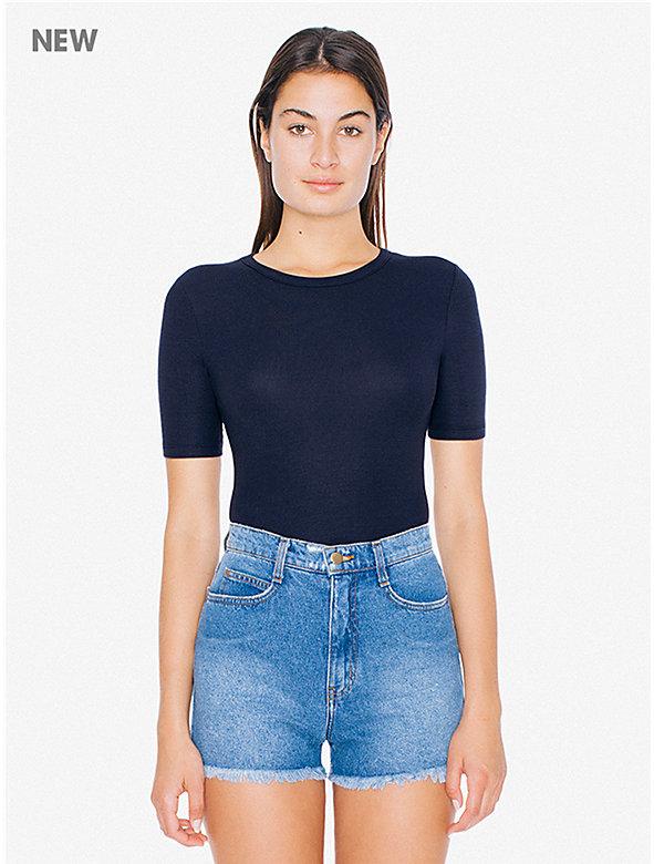 2x2 Rib Fitted T-Shirt