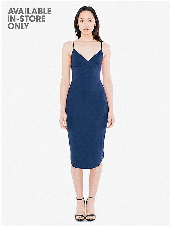 2x2 Rib Sofia Midi Dress