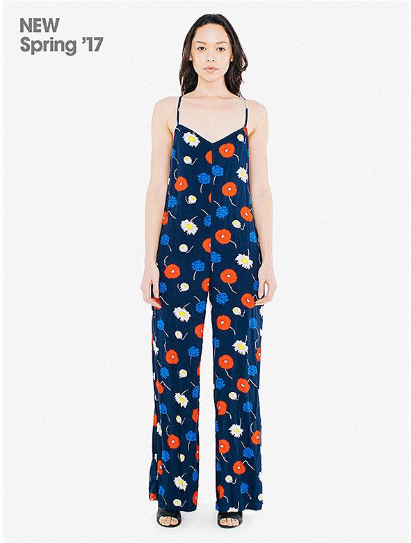 Printed Viscose Twill Larkin Jumpsuit