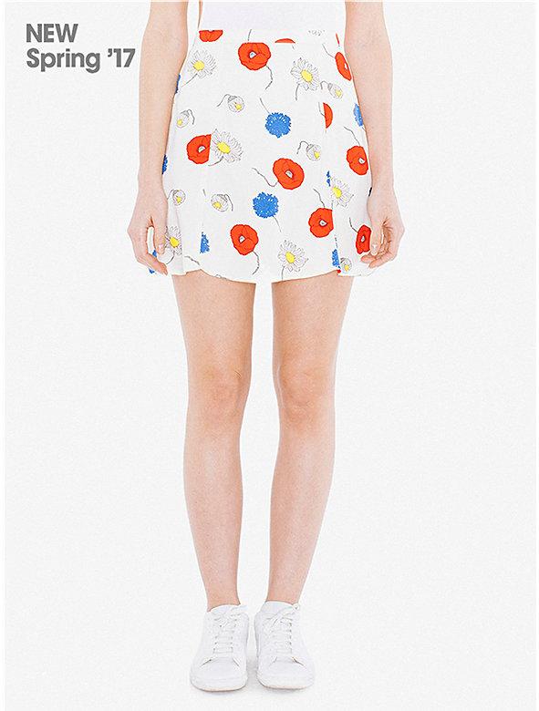 Printed Viscose Twill Lulu Skirt