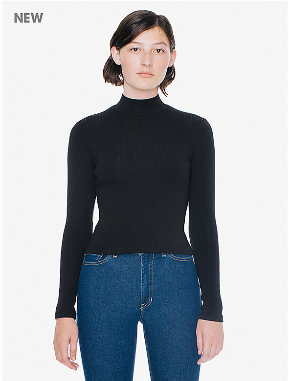 9x1 Rib Turtleneck Top